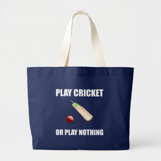 Play Cricket Or Nothing Large Tote Bag