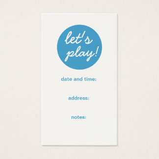 Play Date Appointment Mom Calling Card, Son