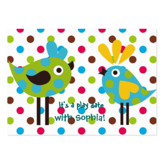 play date cards (personalized) pack of chubby business cards