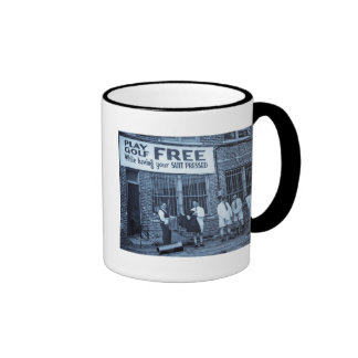 Play Golf Free (While Having Your Suit Pressed) Ringer Mug