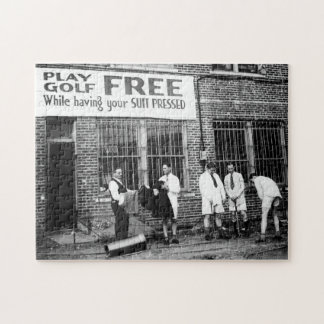 Play Golf Free (While Having Your Suit Pressed) Puzzle