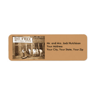 Play Golf Free (While Having Your Suit Pressed) Return Address Label
