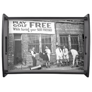 Play Golf Free (While Having Your Suit Pressed) Serving Trays