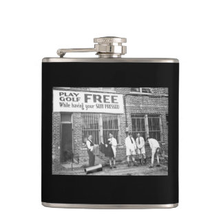 Play Golf Free (While Having Your Suit Pressed) Flask