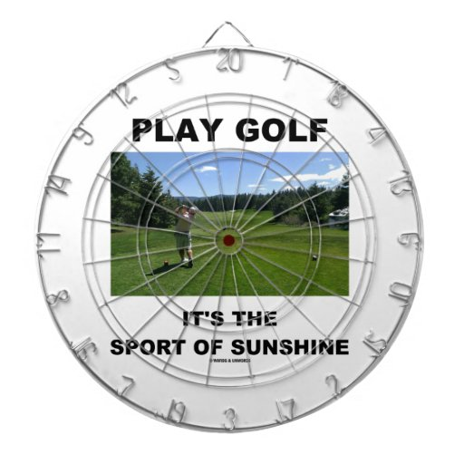Play Golf It's The Sport Of Sunshine (Golf Course) Dartboards