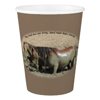 Play Hard and Get Dirty Sand Wash Basin Paper Cup