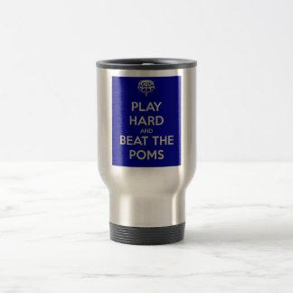 play hard beat poms travel mug