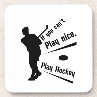 Play Hockey Funny Gifts Men Women Coaster