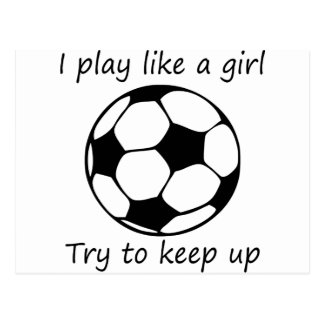 play like a girl3 postcard