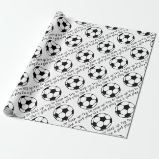 play like a girl3 wrapping paper
