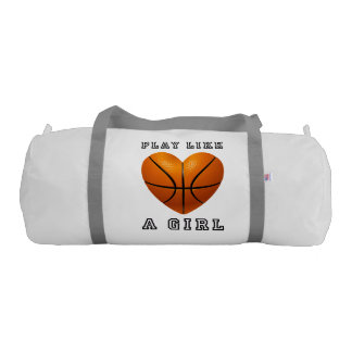 Play like a girl basketball gym bag