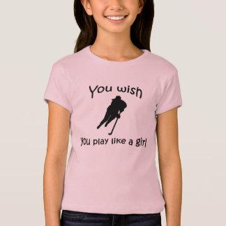 Play like a girl - hockey t shirts
