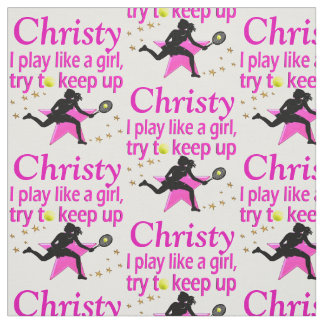 PLAY LIKE A GIRL PERSONALIZED TENNIS FABRIC