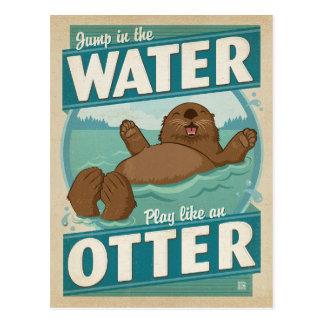 Play Like an Otter Postcard