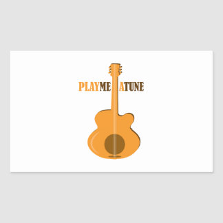 Play Me A Tune Rectangle Stickers