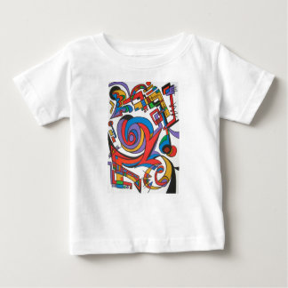 Play Me Some Jazz-Abstract Art Geometric Baby T-Shirt