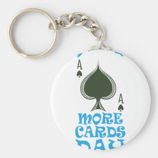 Play More Cards Day - Appreciation Day Key Ring