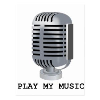 PLAY MY MUSIC POSTCARD