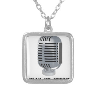 PLAY MY MUSIC SILVER PLATED NECKLACE