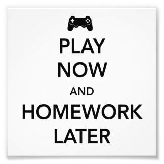 Play Now and Homework Later Photographic Print