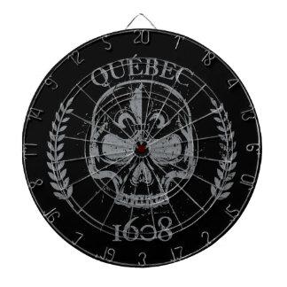 Play of dart grunge Quebec skull/skull biker black Dartboard