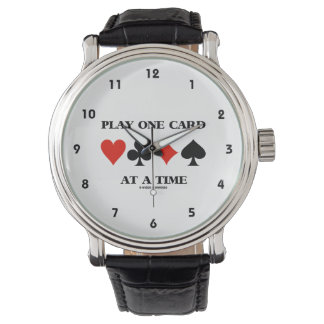 Play One Card At A Time (Four Card Suits) Watch