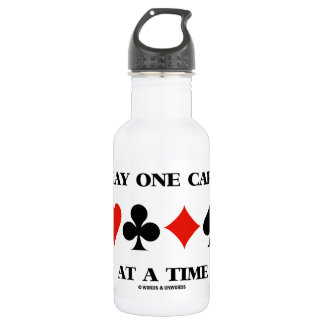 Play One Card At A Time (Four Card Suits) 532 Ml Water Bottle
