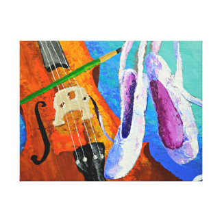 Play Paint Pointe 11x14 Wrapped Canvas by panoplei Gallery Wrap Canvas