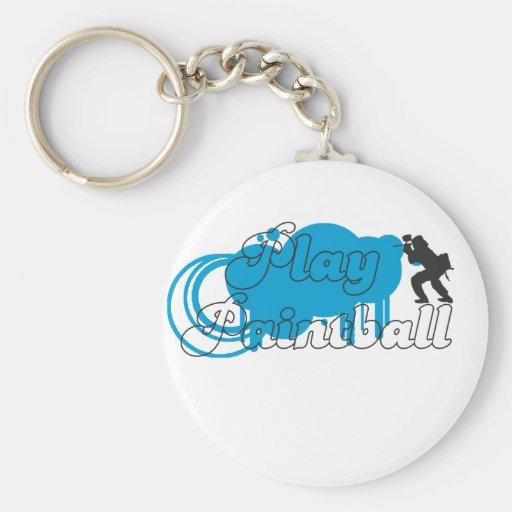 Play Paintball Basic Logo Keychain