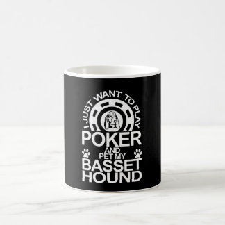 Play Poker And Pet My Basset Hound Dog Coffee Mug