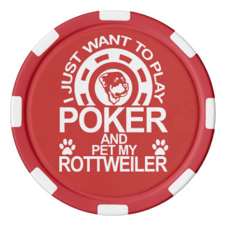 Play Poker And Pet My Rottweiler Dog Poker Chips