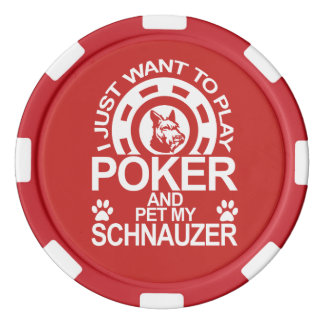 Play Poker And Pet My Schnauzer Dog Poker Chips