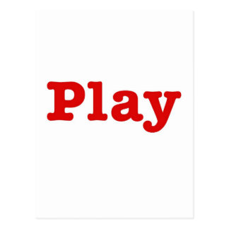 Play (red happy edition) postcard