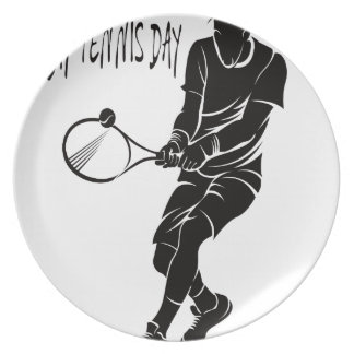 Play Tennis Day - Appreciation Day Plate