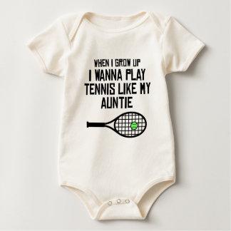 Play Tennis Like My Auntie Baby Bodysuit