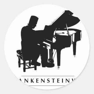 Play the Frankensteinway! Classic Round Sticker