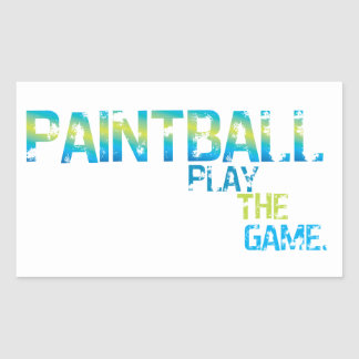 Play The Game Paintball Sticker