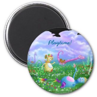 Play Time! 6 Cm Round Magnet