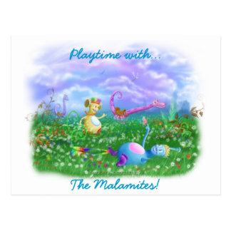 Play Time at Twisty Twicks Garden! Postcard