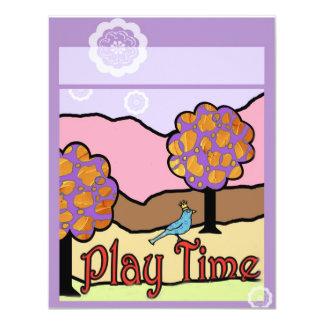 Play Time 11 Cm X 14 Cm Invitation Card