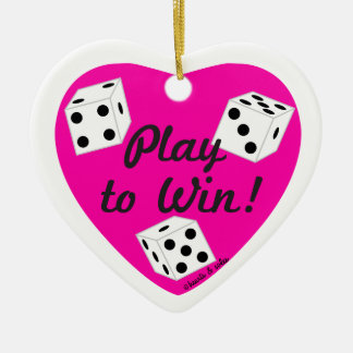Play to Win Heart Ornament