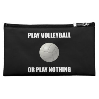 Play Volleyball Or Nothing Makeup Bags