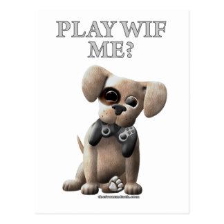 Play Wif Me Postcard