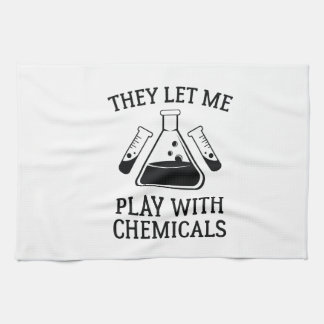 Play With Chemicals Tea Towel