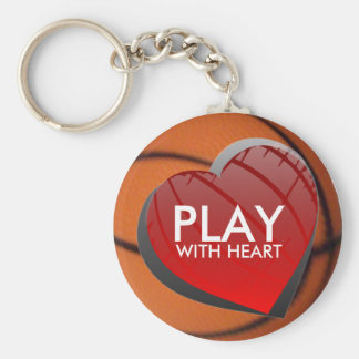 Play With Heart Basketball Keychain