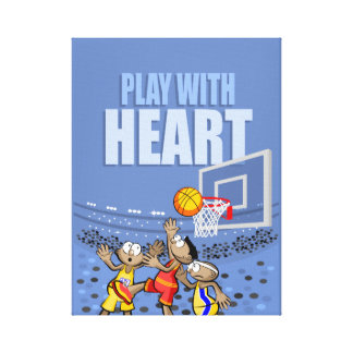 Play with heart canvas print
