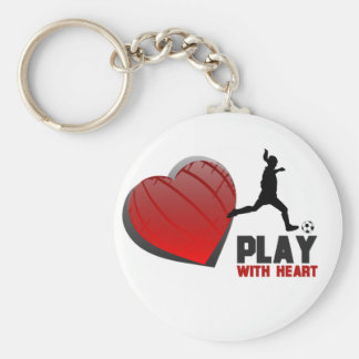 Play With Heart Girls Soccer Keychain
