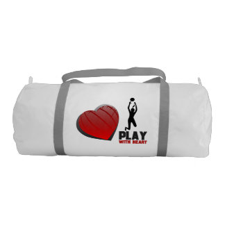 Play With Heart Volleyball Gym Duffel Bag