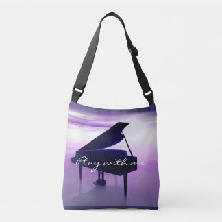 Play With Me Grand Piano on the Beach Music Bag
