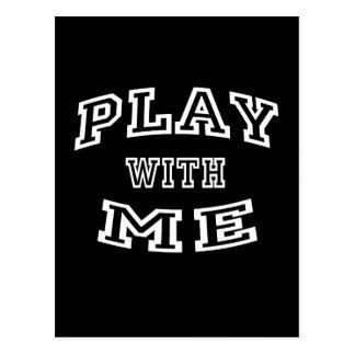Play with me postcard